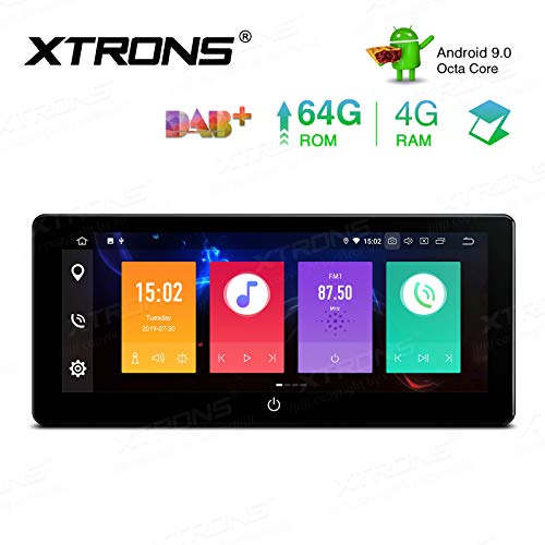 XTRONS 10.25 Inch Android 9.0 Double Din Car Stereo Radio