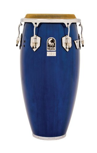 Toca 4612-1/2BW Custom Deluxe Wood Tumba - Blue Wood Finish by Toca
