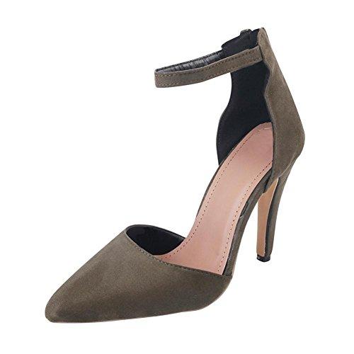 Sexy Mariage Hauts Overdose Chaussures à Hiver Vert Heel Escarpins Soirée Autumn Suédine en Talons Femme High qxzfp