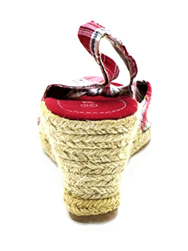 Rouge Ibiza Espandrilles Chaussures Femmes Sandales wxIvgaq