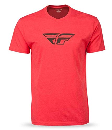 Fly Racing F-Wing T-Shirt (Red, Large)