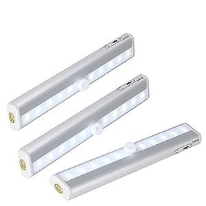 Led Lichtleiste Kabellos : grde 3stk automatische 10led lichtleiste aluminiume ~ Watch28wear.com Haus und Dekorationen