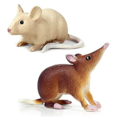 meiyuan Realistic Fake Mouse Prank Toy Decoration Prop Plastic Rats Mouse Model Figures Kids Halloween Tricks Pranks Props Toy Rat: Kitchen & Dining