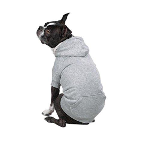 "Zack & Zoey Fleece-Lined Hoodie for Dogs, 16"" Medium, Gray"