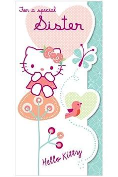 Hello Kitty Hermana Cumpleaños Tarjeta: Amazon.es: Hogar