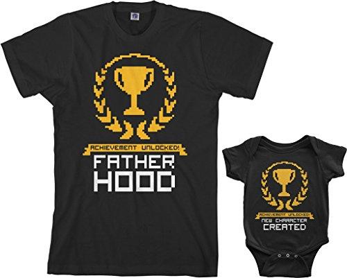 Threadrock Achievement Unlocked Infant Bodysuit & Men\'s T-Shirt Matching Set