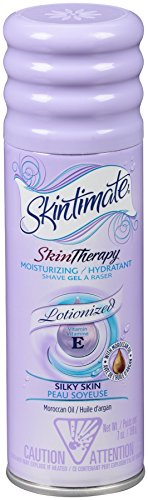 Skintimate Skin Therapy Lotionized Moisturizing Shave Gel for Women Silky Skin with Vitamin E and Moroccan Oil, 7 Ounce (Pack of 6)