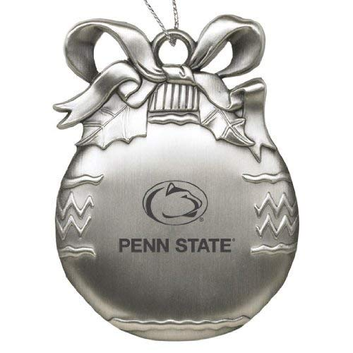 Penn State University - Pewter Christmas Tree Ornament - Silver