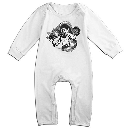 Confessions Of A Pit Fighter (Bruce Lee Dragon Baby Onesie Bodysuit Toddler Clothes Jumpsuits Longsleeve)