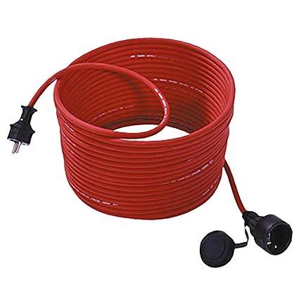 Bachmann 343.370 - Cable alargador para cortacésped (25 m, con tapa), color