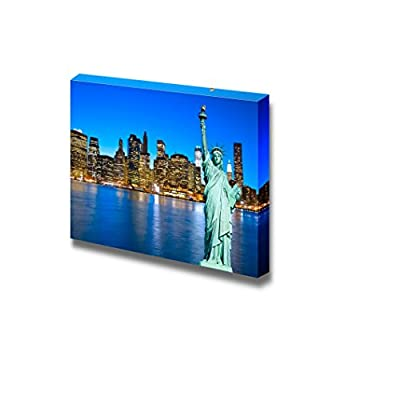 Incredible Handicraft, Beautiful Scenery Landscape Night View of Manhattan New York City USA Wall Decor, Classic Artwork
