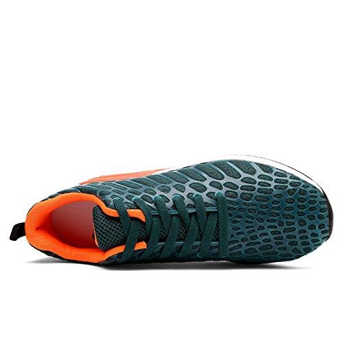 Pura caminar moda atlética Zapatillas deportivas Hombres ligeras de correr de para Zapatillas Mujeres FUSHITON verde wOCzqv7v