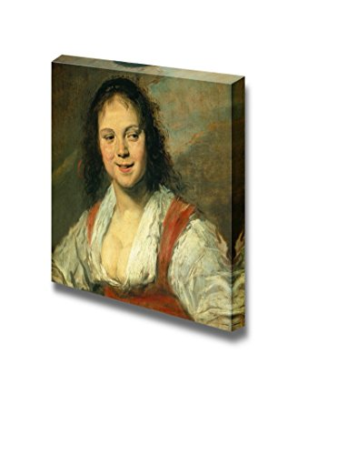 The Gypsy Girl - Malle Babbe by Frans Hals - Canvas Print Wall Art Famous Painting Reproduction - 24