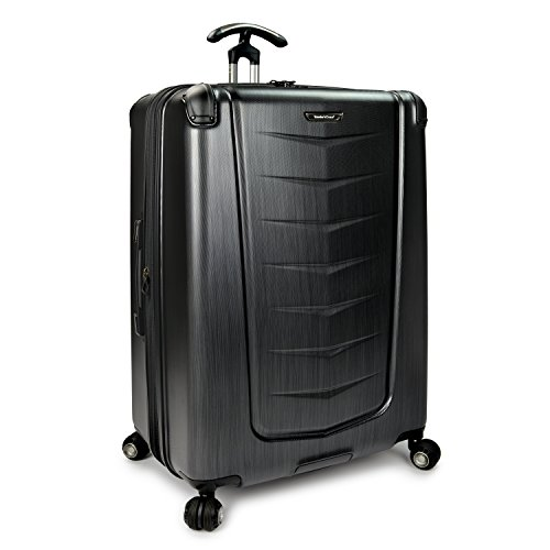 - Traveler's Choice Silverwood Polycarbonate Hardside Expandable Spinner Luggage Case - Brush Metal (30-Inch)