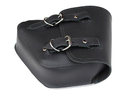 La Rosa Harley-Davidson Softail & Rigid Black Leather Left Saddlebag