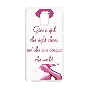 ORIGINE Pink high-heeled shoes Cell Phone Case for Samsung Galaxy Note4