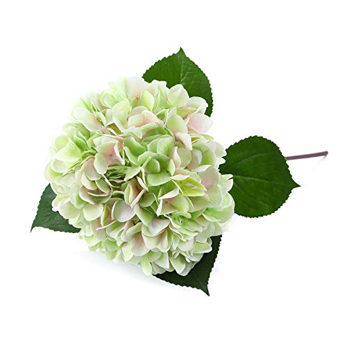 MeHelany Artificial Flowers Silk Dom Hydrangea Flowers Bouquet Arrangement Plant Decoration for Weddings, Home, Festivals, Parties -