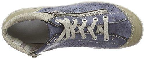 Rieker Kvinnor Snörskor Blå (marmor / Jeans / Champig) M3735-60 Marmor / Jeans / Svamp