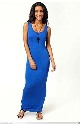 Femme Veste De Dames Débardeur Dos Nageur Pull-over Robe Longue Été Grande Taille 8-18 - Bleu Roi, Femme, L/XL (EU 42-44)
