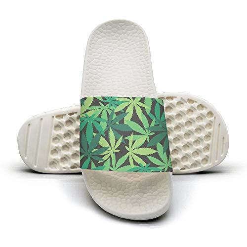 qiopw rtw Bathroom Shower Non-Slip Sandal Charming Cannabis Leaves Indoor Slipper Shoes Women Girls