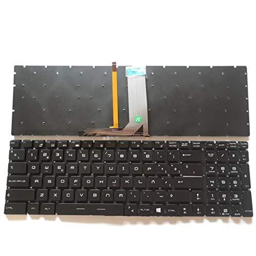 Junweier Espa/ñol Teclado RGB Colorido retroiluminado para MSI GV72 GV72VR CR62 CR72 CX72 PE72VR PL60 PL72 WS62 WT72S Pro GL65M V143422CK1 V143422DK1 Spanish SP Latin LA ES computadora port/á