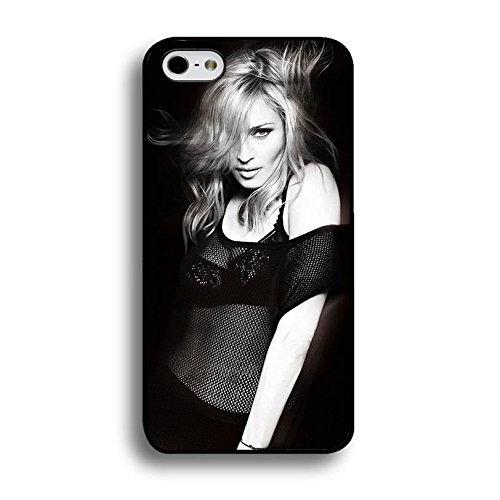 Case Shell Fashion Sexy Black Lace Super Singer Madonna Ciccone Phone Case Cover for Iphone 6 / 6s ( 4.7 Inch ) Madonna New Stylish