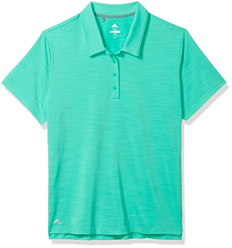 adidas Golf Women's Ultimate 365 Short Sleeve Polo, Hi-Res Green, Large