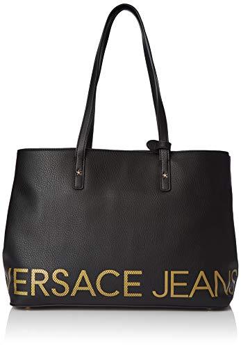 L Versace X Bandolera Mujer nero Centimeters Negro Para H Couture w Bolso 15x28x39 Jeans Bag 7qIrUw76