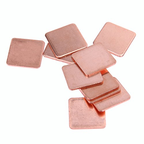 VANPOWER 10 pcs 20mmx20mm 0.3mm Heatsink Copper Shim Thermal Pads for Laptop