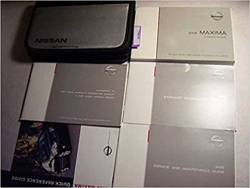 2005 nissan maxima owners manual nissan amazon books fandeluxe Choice Image