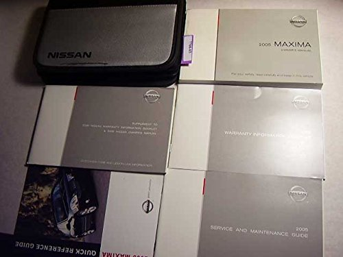 2005 Nissan Maxima Owners Manual