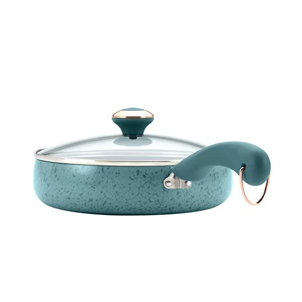 Paula Deen Signature Nonstick Cookware Pots and Pans Set, 15 Piece, Aqua Speckle 2