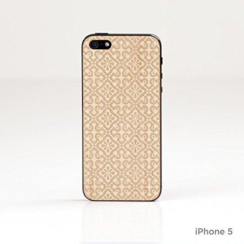 Lazerwood 25400 Holz Cover für Apple iPhone 5/5S inkl. Displayschutzfolie Clementine-Maple