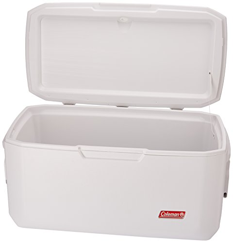 Coleman Coastal Xtreme Series Marine Portable Cooler 2 Large portable cooler ideal for boating and fishing trips 120-quart capacity holds up to 204 cans Insulated lid and walls provide 6 full days of ice retention at temperatures up to 90 degrees Fahrenheit