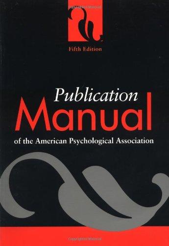 最好的交易 Publication Manual the American Psychological Association