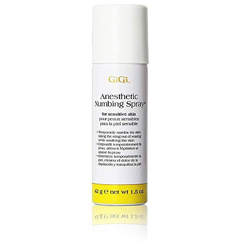 Gigi Anesthetic Numbing Spray for Sensitive Skin Is a Topical Analgesic Spray That Gently Desensitizes the Skin Prior to Waxing with 4% Lidocaine - Net wt 1.5 Oz