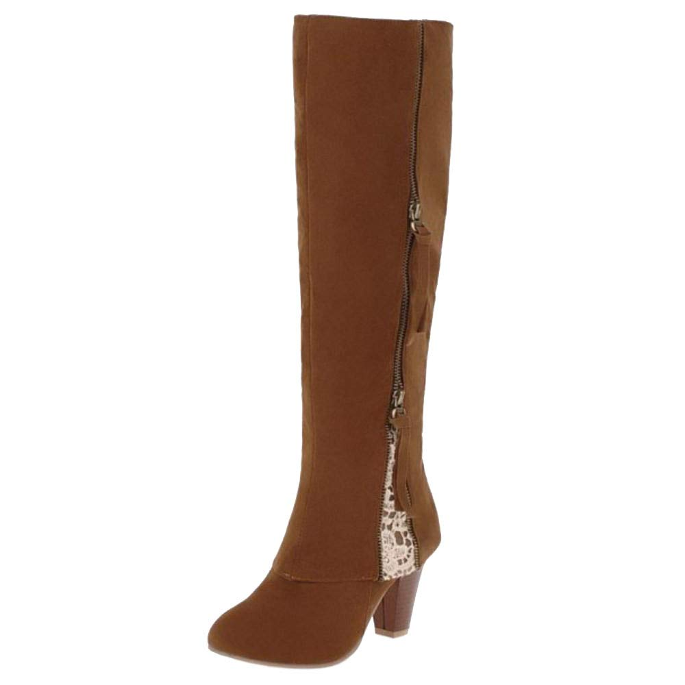 RAZAMAZA Bottes B01HB6BST2 Femmes Longue Marron Bottes Zipper Marron 646a277 - latesttechnology.space