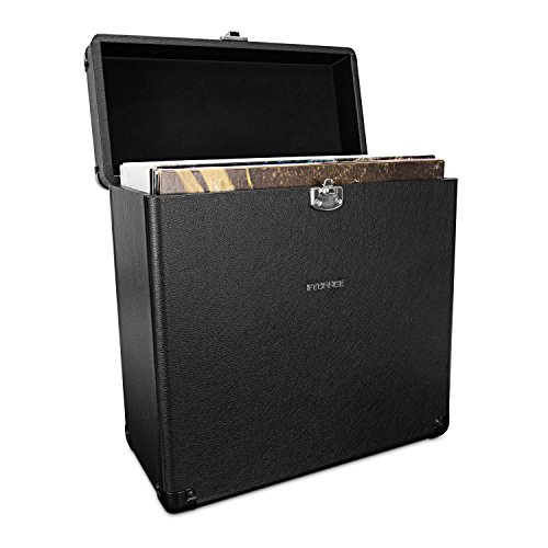 Fluance Heavy Duty Vinyl Record Carrying Case for 30+ Albums (RT10)