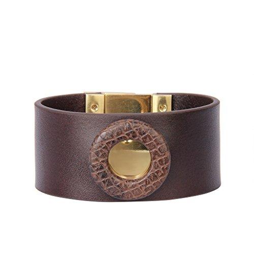 Jenia Women Leather Cuff Bracelet Wide Italian Wristband Wrap Around Bracelet Bohemian Jewelry for Girls, Ladies, Mother, Wife Birthday Gifts by Jenia (Image #9)