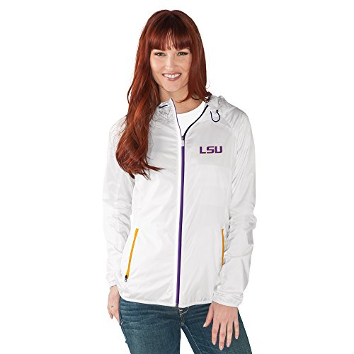 NCAA Lsu Tigers Women's Spring Training Light Weight Full Zip Jacket, XX-Large, White
