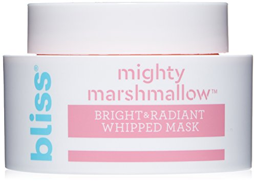 Bliss Mighty Marshmallow Face Mask Bright & Radiant Whipped Facial Mask Straight-from-the-Spa Paraben Free, Cruelty Free 1.7 fl oz