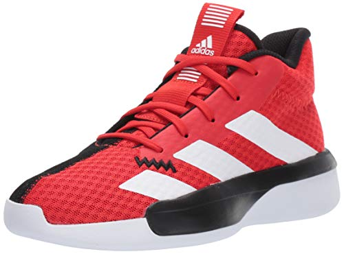 adidas Unisex Pro Next Basketball Shoe, Active Red/White/Black, 7 M US Big Kid (Shoe For Basketball)