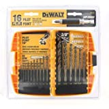 black and decker gold - DRILL BIT 16PC PILOT PT by DEWALT ACCESSORIES MfrPartNo DW1170