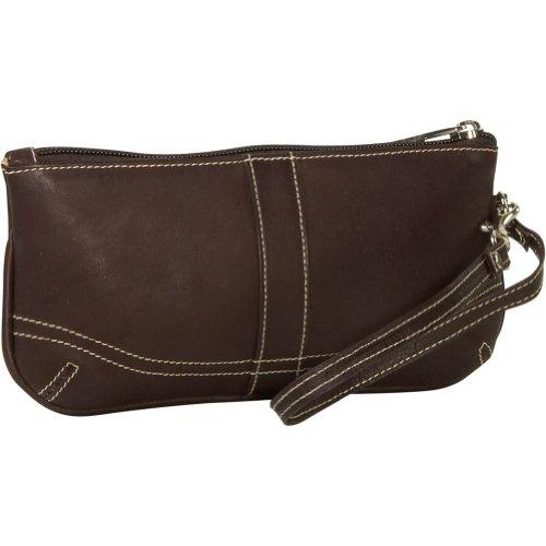 Piel Ladies Large Wristlet – Chocolate, Bags Central