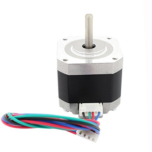 Iverntech Nema 17 Stepper Motor Bipolar 1.5A 400mN.m 2 Phase 4 Wires 1.8 Deg for 3D Printer or CNC Machine by Iverntech