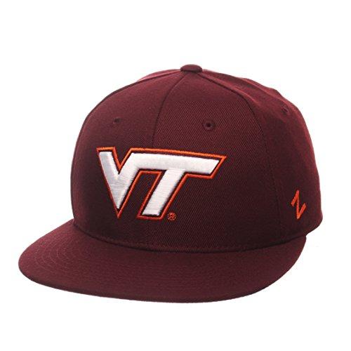 (Zephyr NCAA Virginia Tech Hokies Men's M15 Fitted Hat, 7_5/8, Maroon)