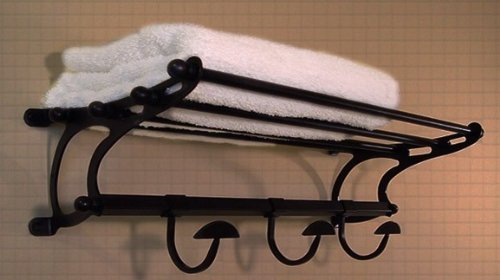 Medium Size Oil Rubbed Bronze Paris Hotel Train Rack Styl...