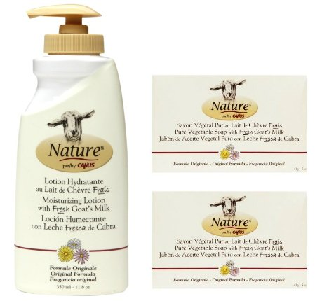 Amazon.com : Canus Nature Moisturizing Body Lotion Original Formula and Nature Pure Vegetal Oil Base Soap Original Formula (Pack of 2) Bundle with Goat Milk ...