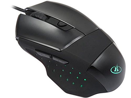 ROSEWILL LED Lighting Wired USB Gaming Mouse, Gaming Mice for Computer / PC / Laptop / Mac Book with 4000 DPI Optical Gaming Sensor and Ergonomic Design with 6 Buttons for Big Hand User(ION (Dpi Pc Mac)