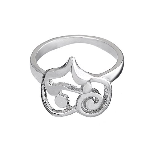 Stylish Love Heart Ring for Couples in Wedding, Perfect Gift Jewelry at Special Day(size 7.5) by Skyrim